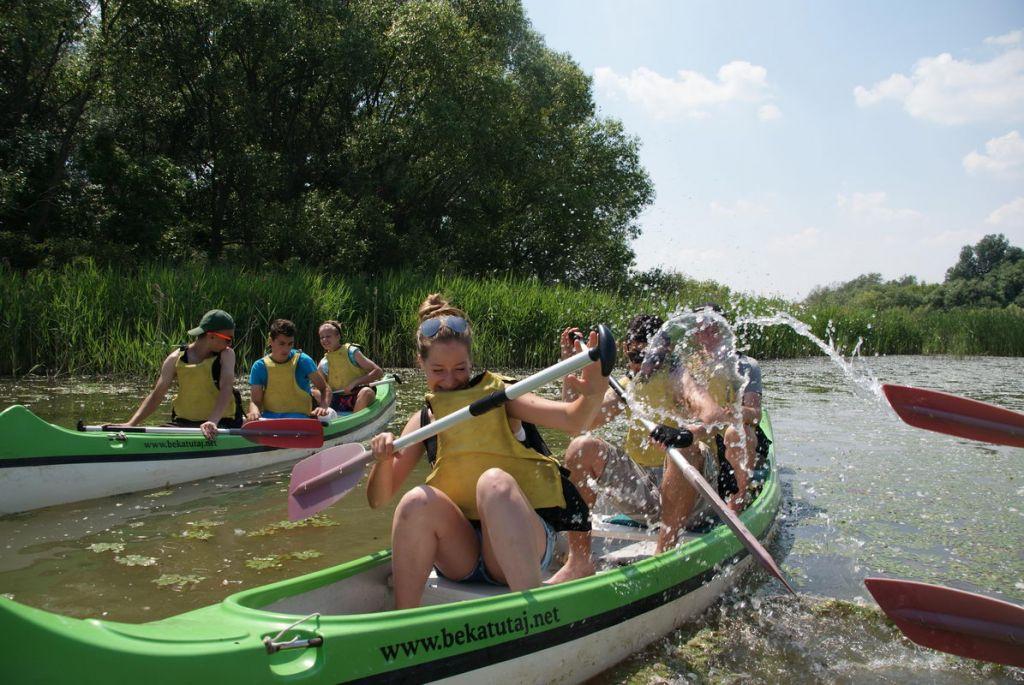 Tisza-tavi vízitúra az osztállyal
